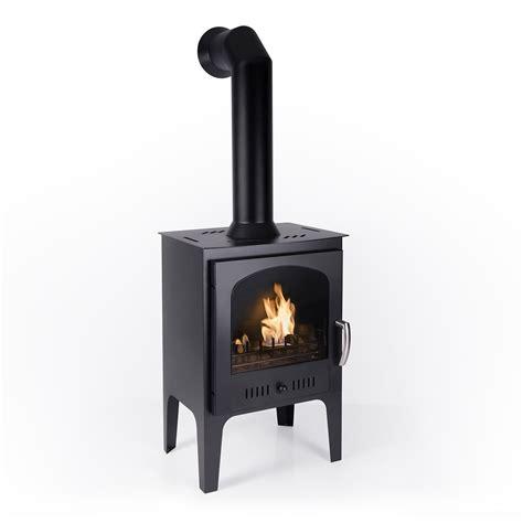 log burner effect black traditional bio ethanol stove