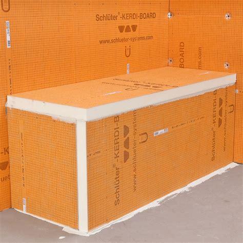 waterproofing tile shower walls bancs schluter ca 7020