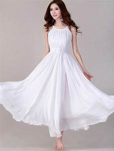 white long evening wedding party dress lightweight With sundress wedding dress