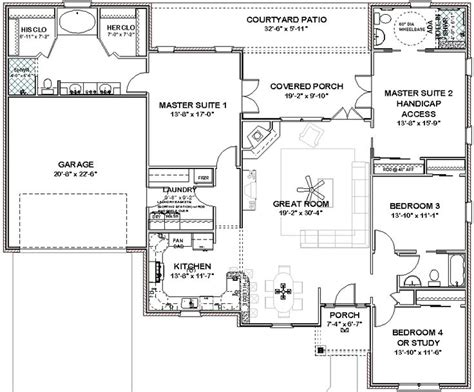 house plans 2 master suites single house plans with three master suites details about