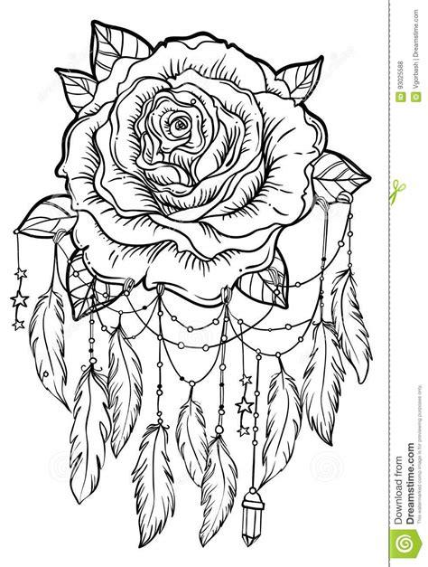 Dream Catcher With Rose Flower, Detailed Vector Illustration Iso Stock Vector - Illustration of