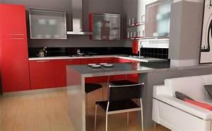 Rote Arbeitsplatte Küche : rote kuche alle ideen f r ihr haus design und m bel ~ Sanjose-hotels-ca.com Haus und Dekorationen