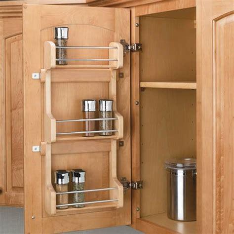 kitchen cabinet spice rack rev a shelf door mount spice rack 15 inch wood 4sr 15 5792