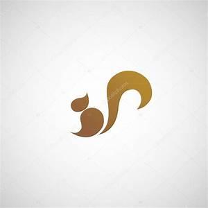 Squirrel Logo Vector  U2014 Stock Vector  U00a9 Ilovecoffeedesign