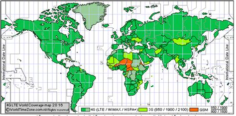 gsm   networks world coverage map
