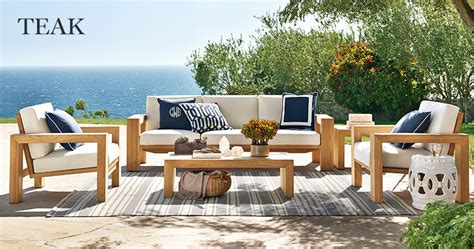 teak outdoor furniture  accentuate  deck  garden