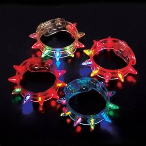 LED Party Rave Blinking Flashing Light Spike Bracelet | eBay  Flashing