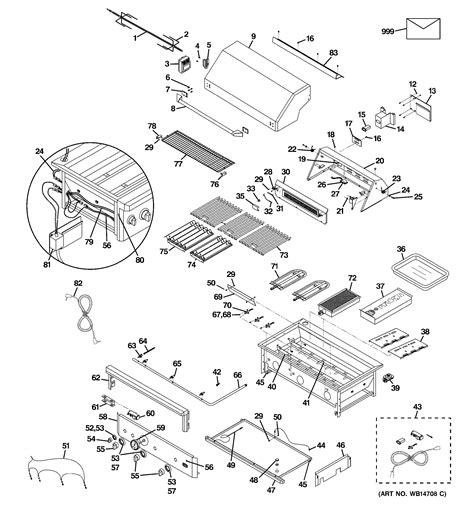 assembly view  control panel cooktop zgglcpss