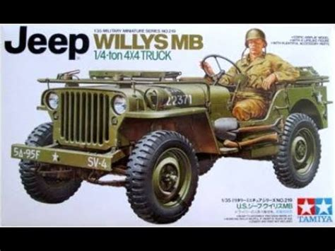 build  willys mb jeep  scale tamiya model