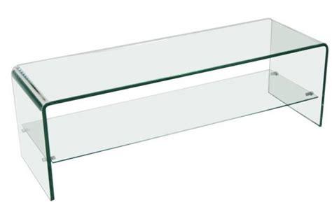 acheter cuisine pas cher meuble tv 1 étagère en verre transparent courbé otta