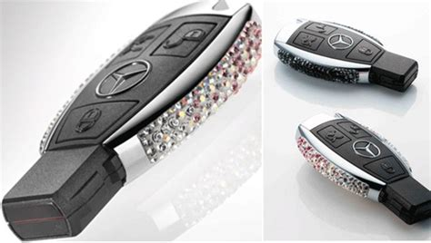 Mercedes-benz Blings Its Keys With Swarovski Crystals