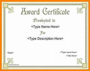 8+ award certificates templates word | dialysis-nurse