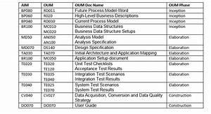 aim vs oum application implementation methodology vs With oum document templates