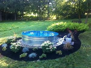 Mini Pool Terrasse : galvanized steel stock tank mini pool galvanize steel ~ Michelbontemps.com Haus und Dekorationen