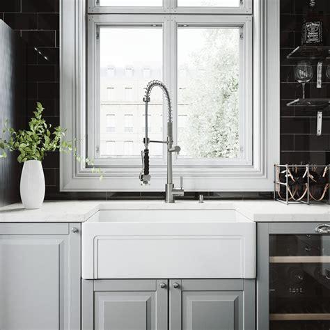 vigo matte stone farmhouse kitchen sink vigo all in one farmhouse matte stone 30 in single bowl