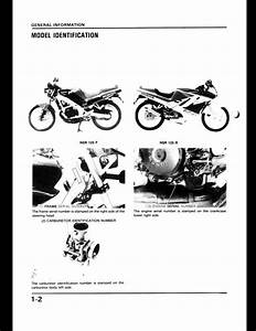 Honda Nsr125f  125r Motocycle Service Repair Workshop Manual