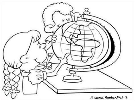 mewarnai kartun anak sekolah mewarnai gambar