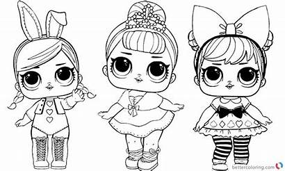 Lol Coloring Pages Dolls Doll Sheet Printable