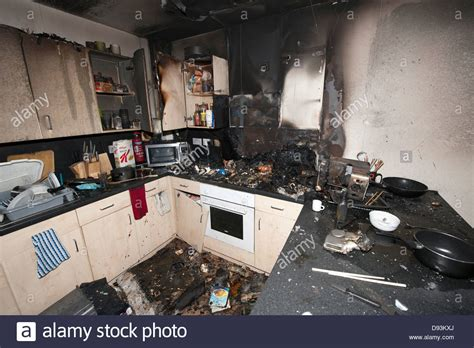 Kitchen Insurance Claim by Severe Cooking Kitchen Burnt Insurance Claim Stock
