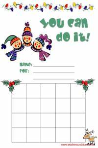 Printable Christmas Elf Reward Chart Christmas Charts For Kids Reward Stamp And Sticker Charts