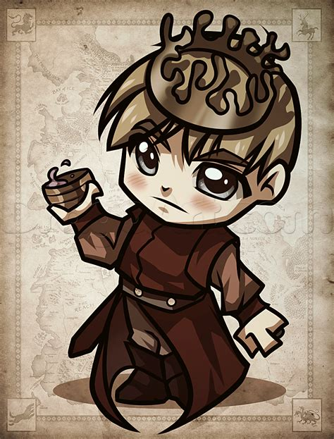 draw chibi joffrey  game  thrones chibi