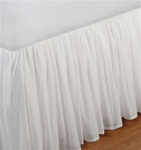 Split Corner Bed Skirt by Day Bed Voile Fuller Ruffled Bed Skirt Split By Decorwithshams