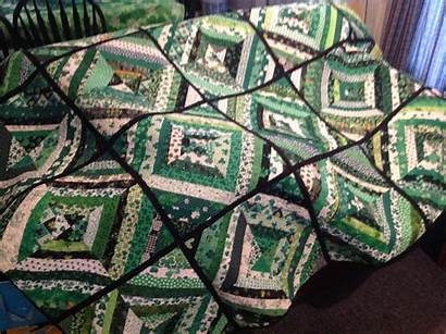 Quilt Shamrock Strip Fabric Chain Irish Reversible