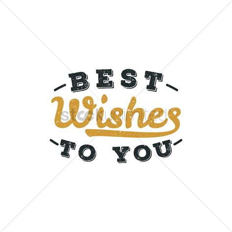 best wish best wishes to you lettering vector image 1827261