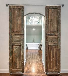 modern and rustic interior sliding barn door designs With barn style doors for house