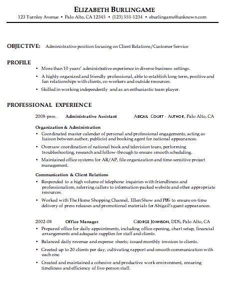 A Chronological Resume Groups Information By Skills And Accomplishments by Combination Resume Sle Administrative Client