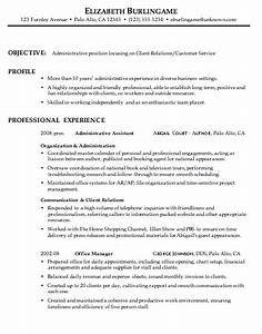 Examples Of Resumes For Customer Service Jobs Combination Resume Sample Administrative Client