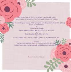 indian wedding invitation wording wedding wording sles and ideas for indian wedding invitations 2016