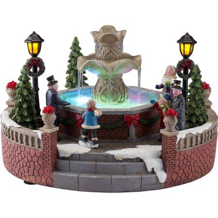 holiday time christmas village  battery operated holiday