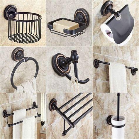 Rustic Bathroom Accessories Sets by Black Rubbed Brass Bathroom Accessories Set Bath