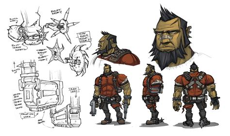 A Guided Tour Of Borderlands 2 Concept Art Game Informer
