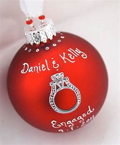 Custom wedding engagement ring ornament in red by sarei on for Wedding ring ornament