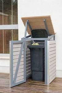 Mülltonnenverkleidung Selber Bauen : m lltonnenbox selber bauen endzustand mit offenem deckel ~ Watch28wear.com Haus und Dekorationen