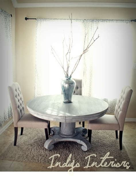 grey kitchen table vintage gray and white washed pedestal dining