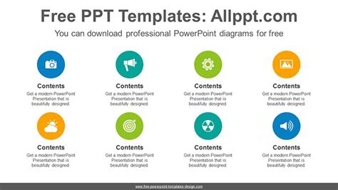 circles list powerpoint diagram template