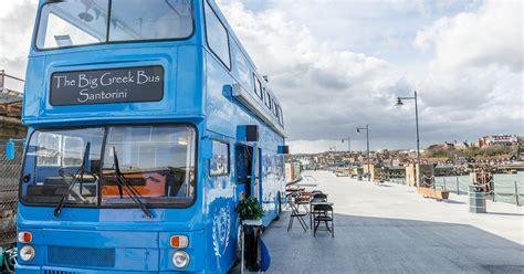 big greek bus folkestone harbour arm