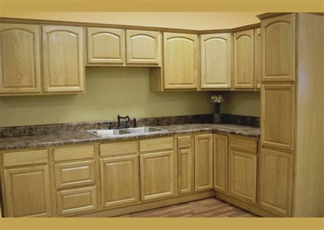 Light Brown Wooden Cabinet With L Shape Plus Gray Marble