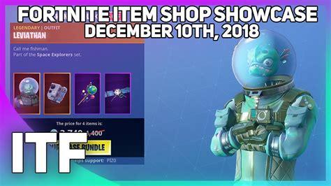 fortnite item shop  leviathan bundle december