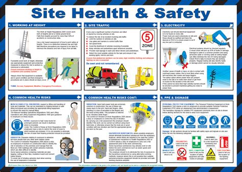 site health safety poster  safety sign supplies