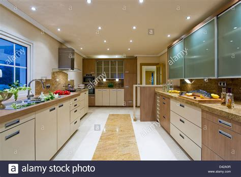 recessed kitchen ceiling lights large modern kitchen in villa with recessed 4514