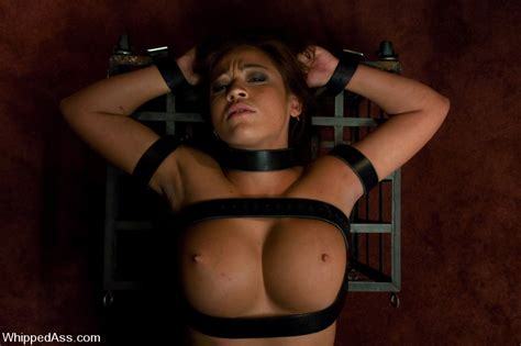 Busty Asian fucked with big strap-on cock in lesbian bondage. - XJizz