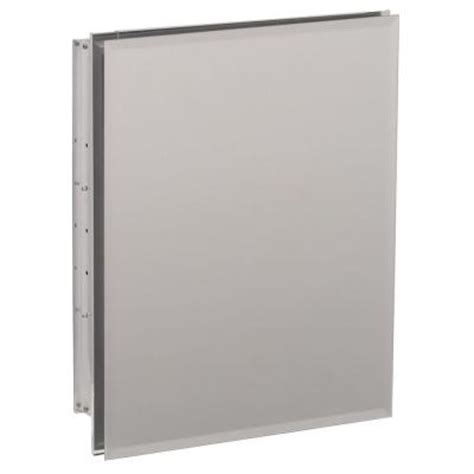 home depot kohler recessed medicine cabinet kohler 16 in w x 20 in h x 5 in d aluminum recessed