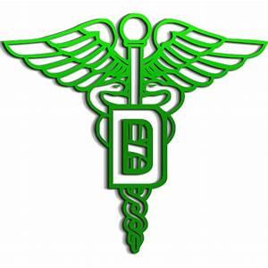 Dental Medical Green Caduceus Logo clipart image - ipharmd.net