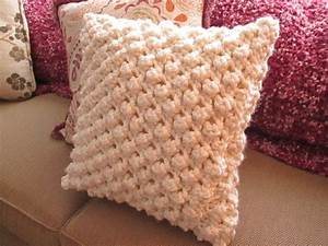 Popcorn Knit Pillow Cover · How To Stitch A Knit Or