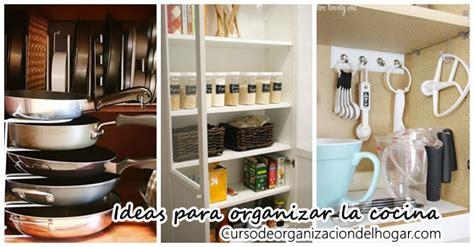 ideas  organizar tu cocina curso de organizacion