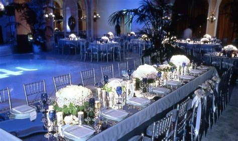 navy blue and silver wedding decoration ideas sang maestro